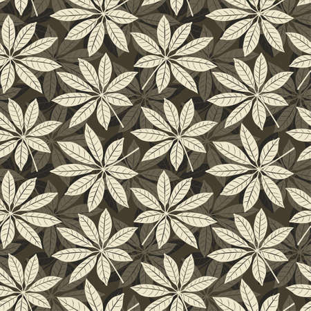 leaves pattern in floral style Vector