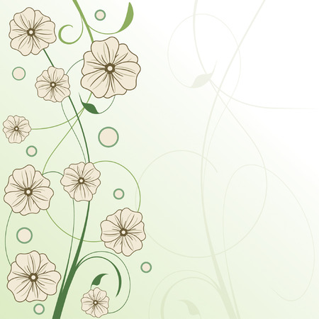 green framework in floral style Vector