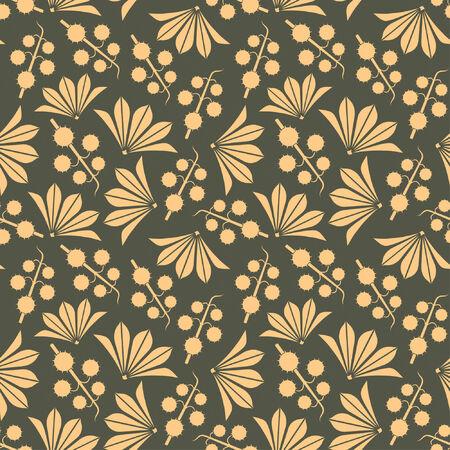 sepals: chestnut pattern in modern style