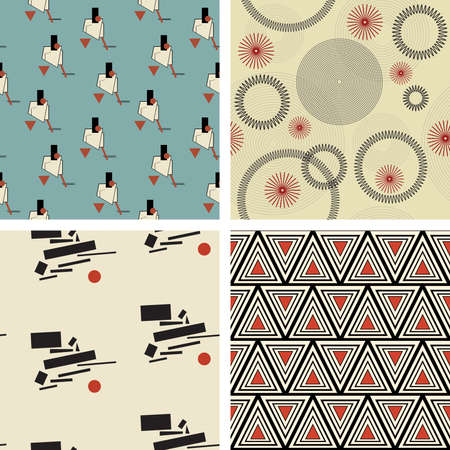 pattern set in suprematism style Vector