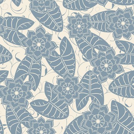 lotus pattern in modern style Vector