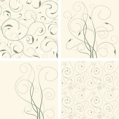 abstract floral pattern set in modern style Vector