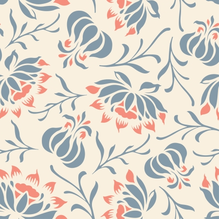 floral pattern in modern style Stock Vector - 5227061