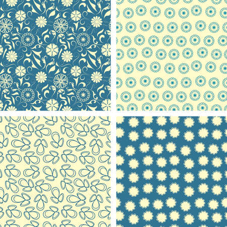 naive flowers in pattern set  Stock Vector - 5252264