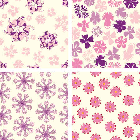 naive flowers in pattern set Stock Vector - 5252260