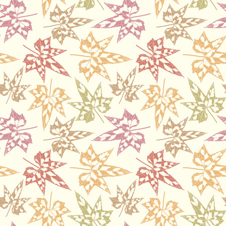 autumn leaves in one pattern Vector