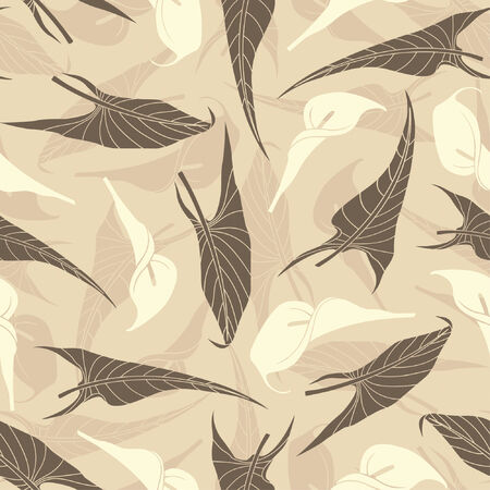 calla pattern in modern style Vector
