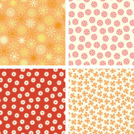 naive flowers in pattern set  Stock Vector - 5447229