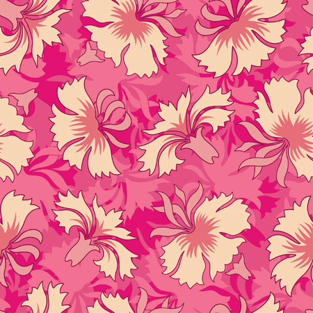 carnations pattern in floral style Vector