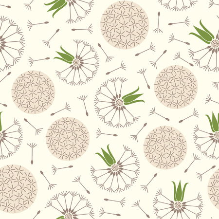 dandelions pattern in floral style Stock Vector - 5447221