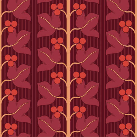 floral lattice pattern in modern style Vector