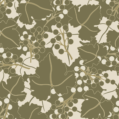 grapes pattern in floral style Stock Vector - 5447207