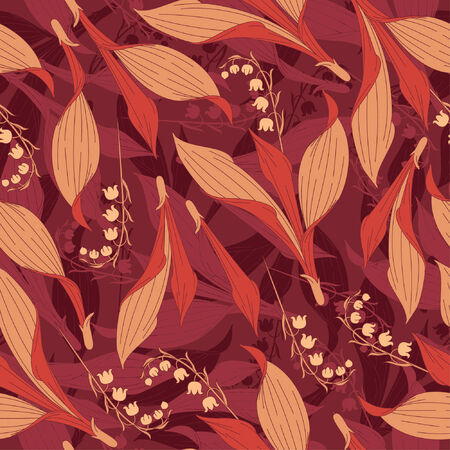 lily of the valley pattern in floral style