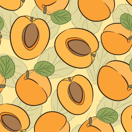 shiny apricot pattern in sparce Vector