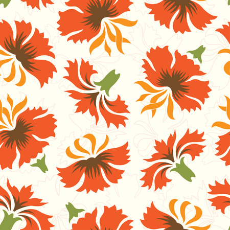 carnations: carnations pattern in floral style Illustration