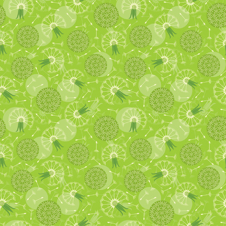 dandelions pattern in floral style Stock Vector - 5533952