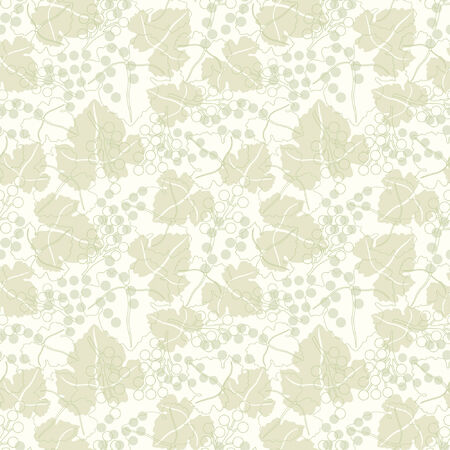 grapes pattern in floral style Stock Vector - 5533945