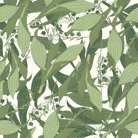 lily of the valley pattern in floral style Vector