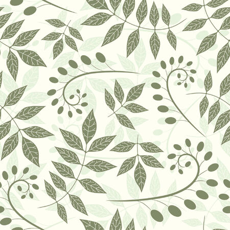 pattern from leaves and bulbes in modern style Vector