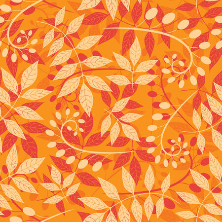 sparce: pattern from leaves and bulbes in modern style Illustration