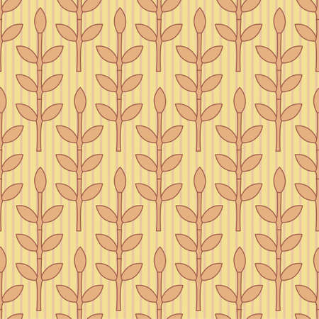 simple leaves pattern in modern style Vector