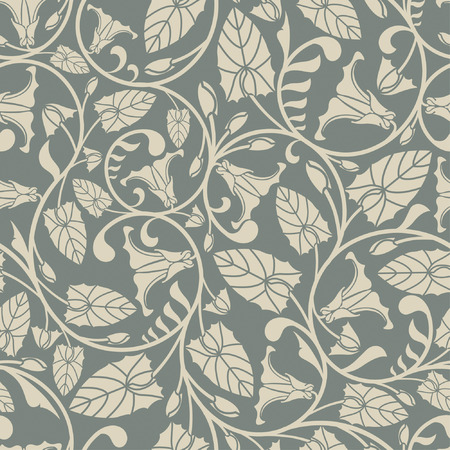 convolvulus: pattern from bindweed in modern style