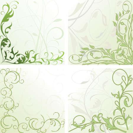 effortless: marco floral en estilo moderno  Vectores