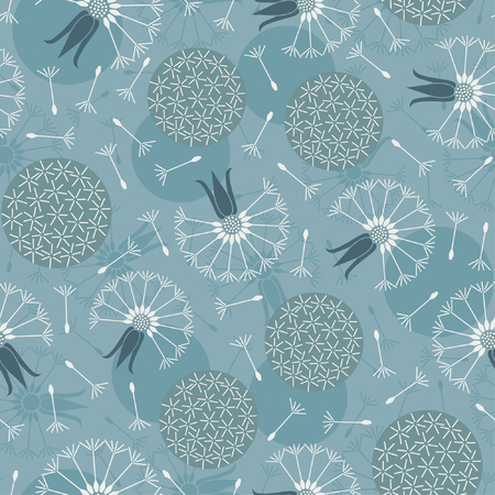 dandelions pattern in floral style Vector