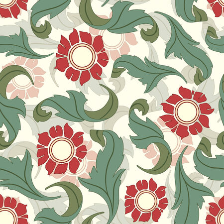 sparce: pattern from leaves and flowes in modern style