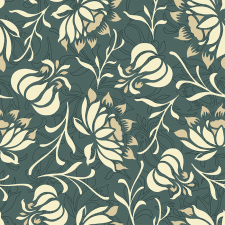 sepals: floral pattern in modern style