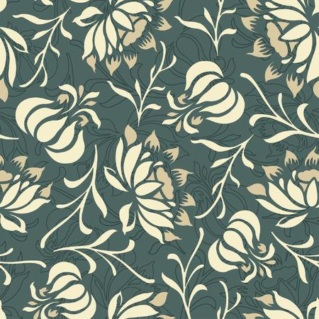 effortless: patr�n floral en estilo moderno Vectores