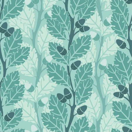oak trees pattern in modern style Illustration