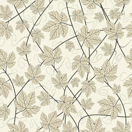 grey grapevines in one pattern Stock Vector - 6199260