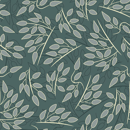 sparce: leaves pattern in floral style Illustration