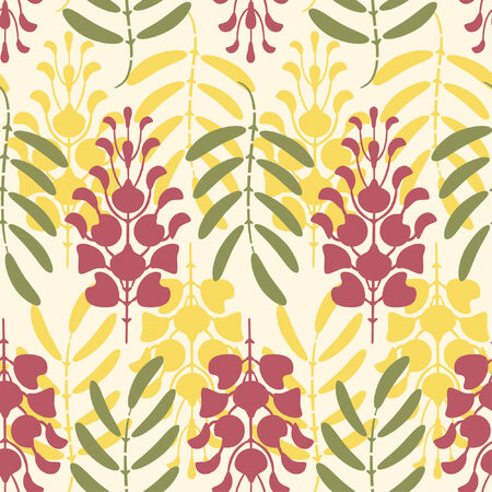 sepals:  floral pattern in abstract style