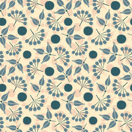 sparce: primitive flowers in floral pattern