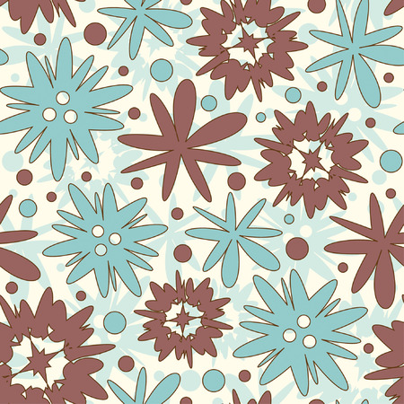 bright flowers pattern for children Stock Vector - 6343665