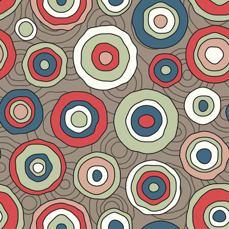 abstract circles pattern in african style Illustration
