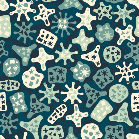 microbiology: abstract bio figures in pattern