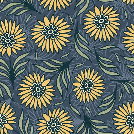 effortless: flores brillantes en patr�n floral