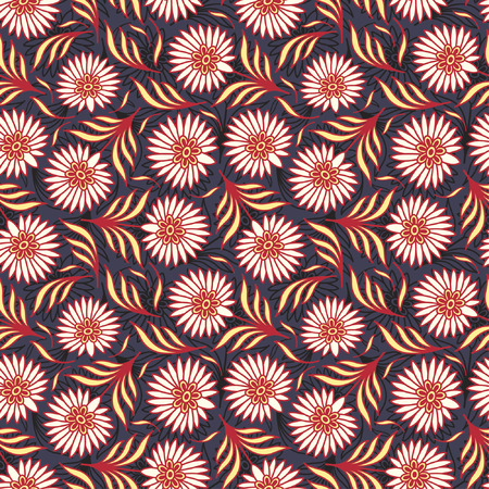 sparce: bright flowers in floral pattern Illustration