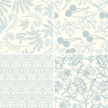 sparce: outline floral patterns in set