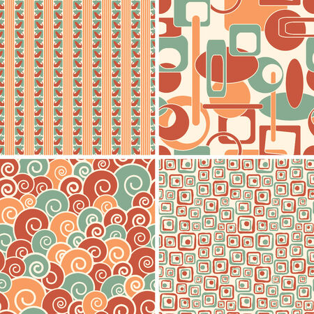 geometric abstract patterns in set Vector