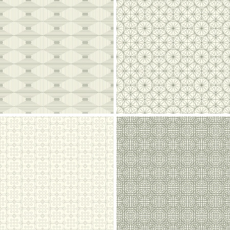 abstract lattice patterns in set
