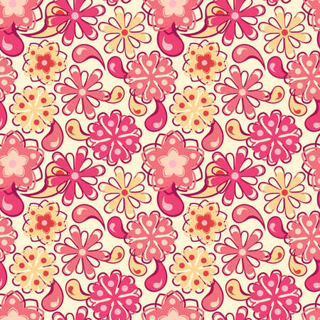 bright flowers in floral pattern Stock Vector - 6658975