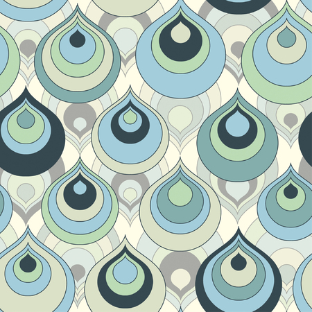 color drops in abstract pattern