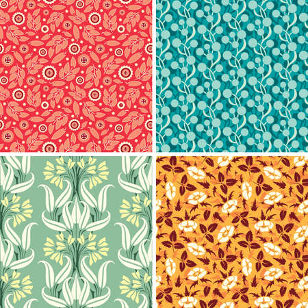 bright floral patterns in set Stock Vector - 6698501