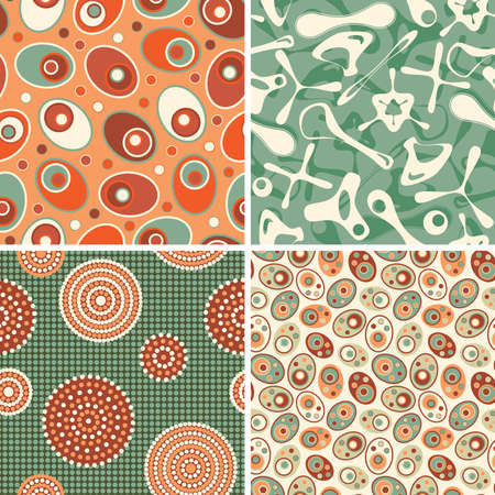 four patterns in bio style Vector
