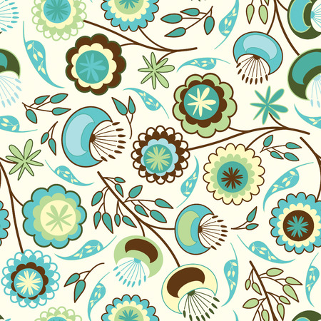 sparce: simple flowers in floral pattern Illustration