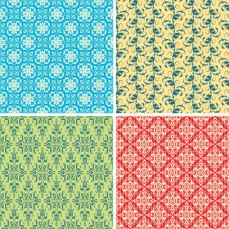 pattern set in empire style Vector